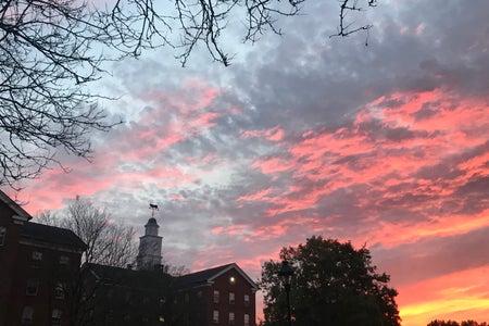 Ohio University Sunset Wray House Back South