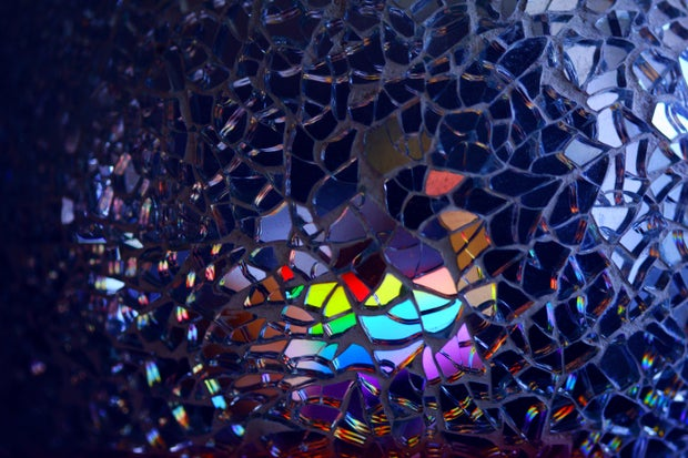 LGBTQ broken mirror