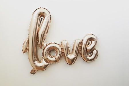 love foil balloon
