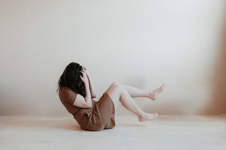 Woman sitting alone