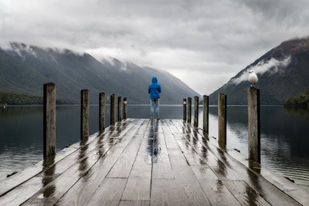 Person Alone on a dock