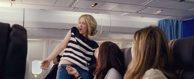 bridesmaids kristen wiig drunk plane scene