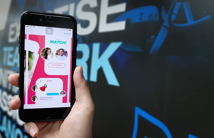 match on a dating app shown on phone screen