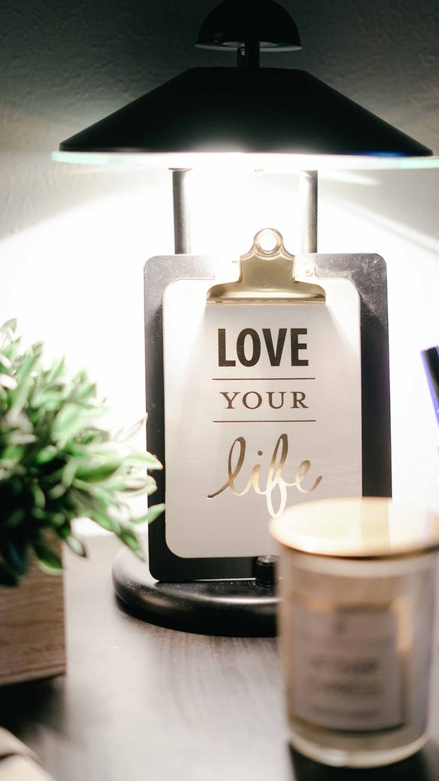 Love yourself clipboard room decor