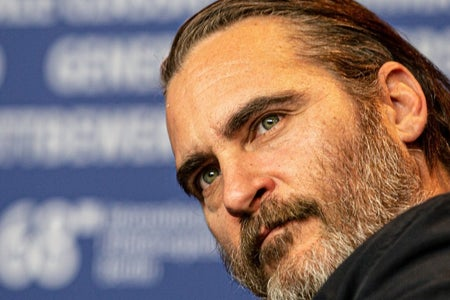 A picture of Joaquin Phoenix staring off into the distance.