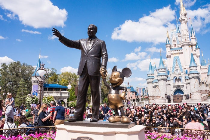 Disney World's Walt and Mickey Statue