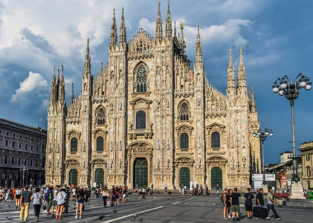 Milano Duomo cathedral in Italy in daytime