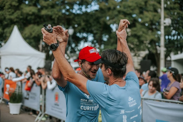Two Men Runners after Marathon