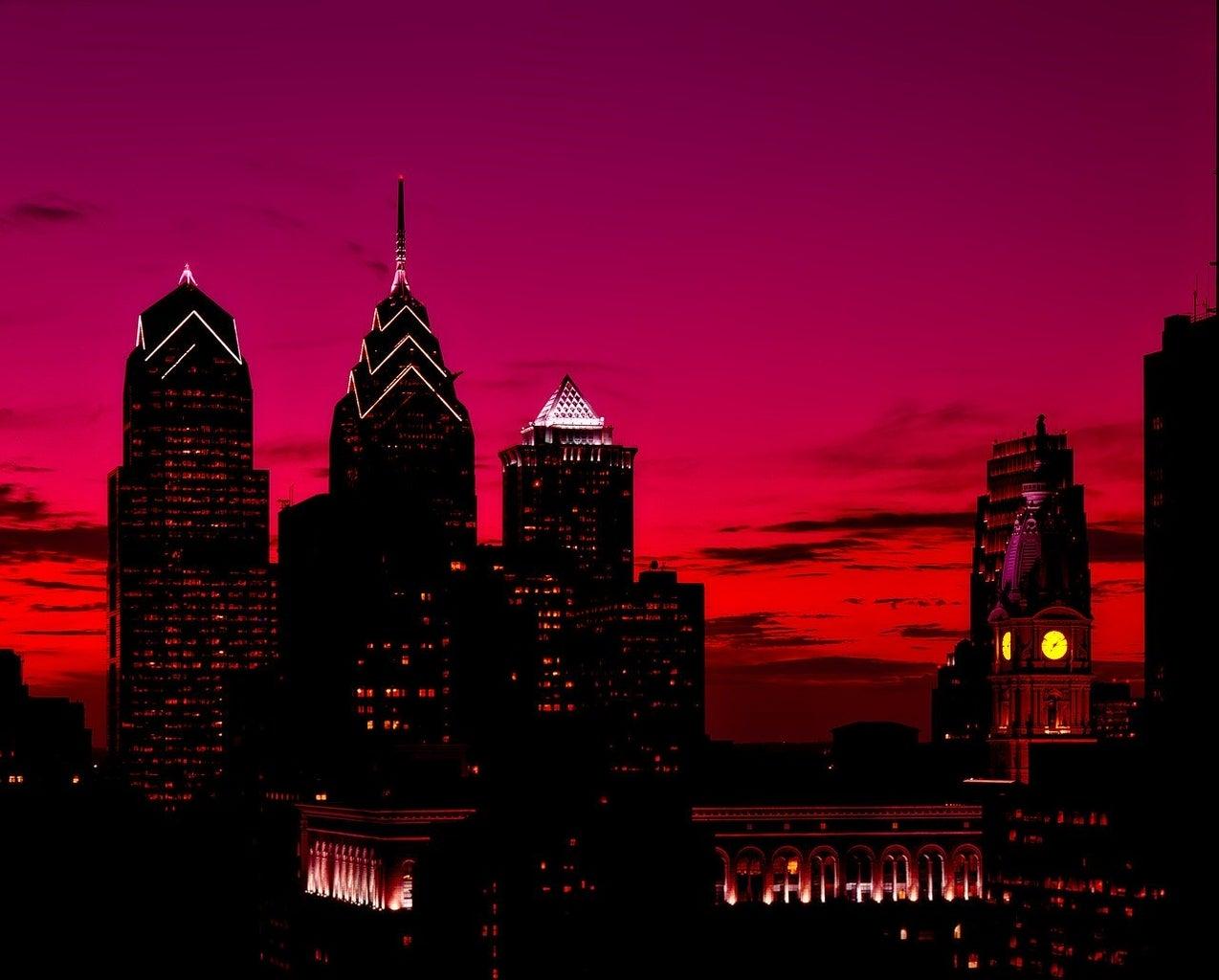 Philadelphia skyline - sunset