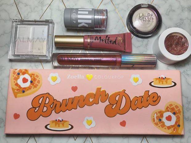 products for a valentines day makeup look