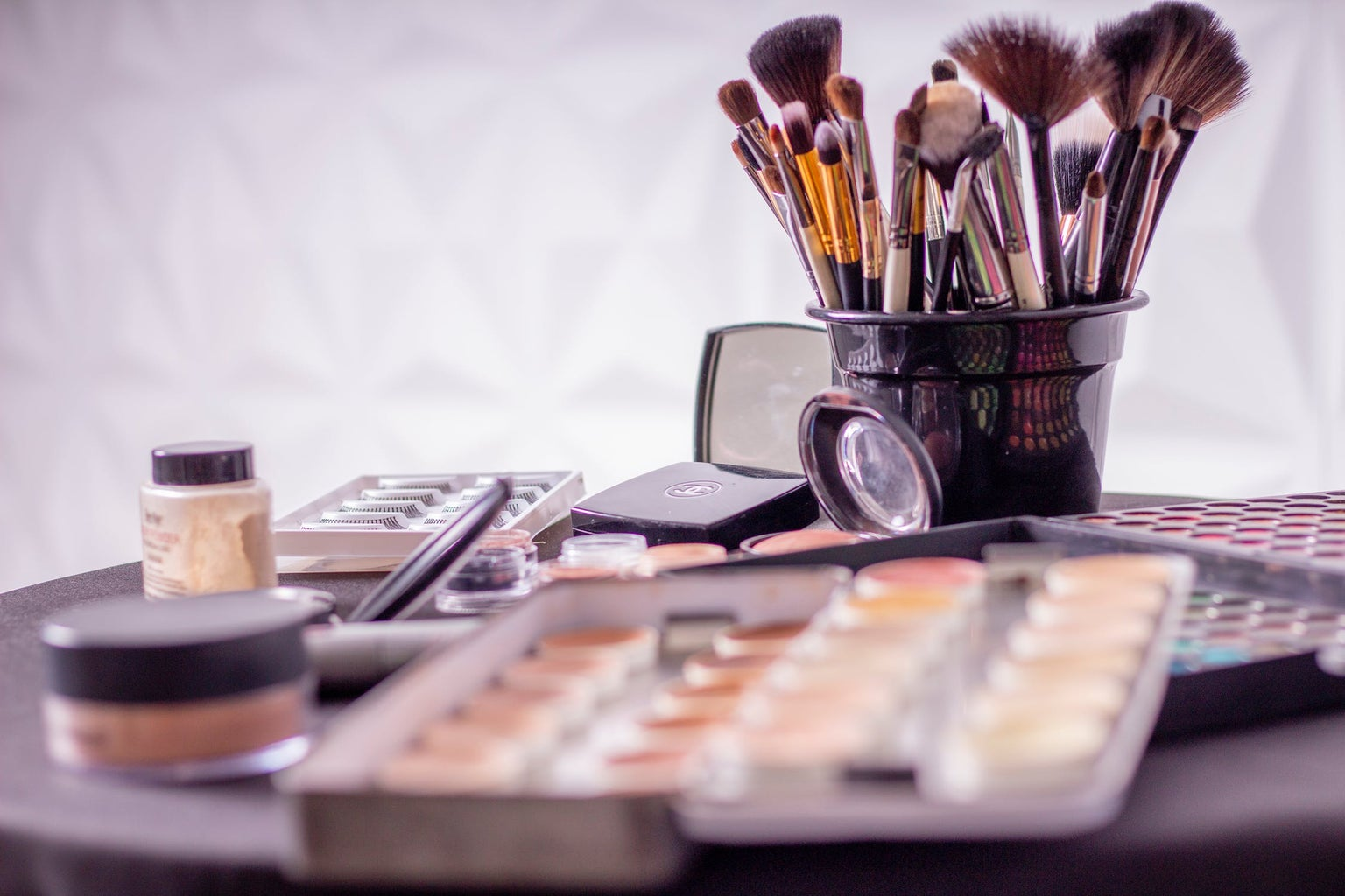 various makeup utensils