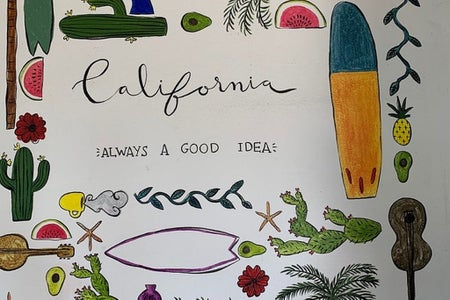 drawing of California