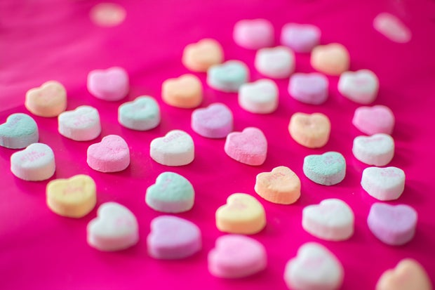 valentine heart candies