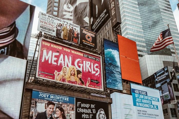 times square mean girls billboard