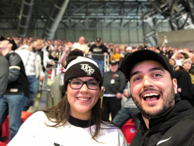 Amberli Kelly with Husband at UCF (profile article, full permission, not for public use)