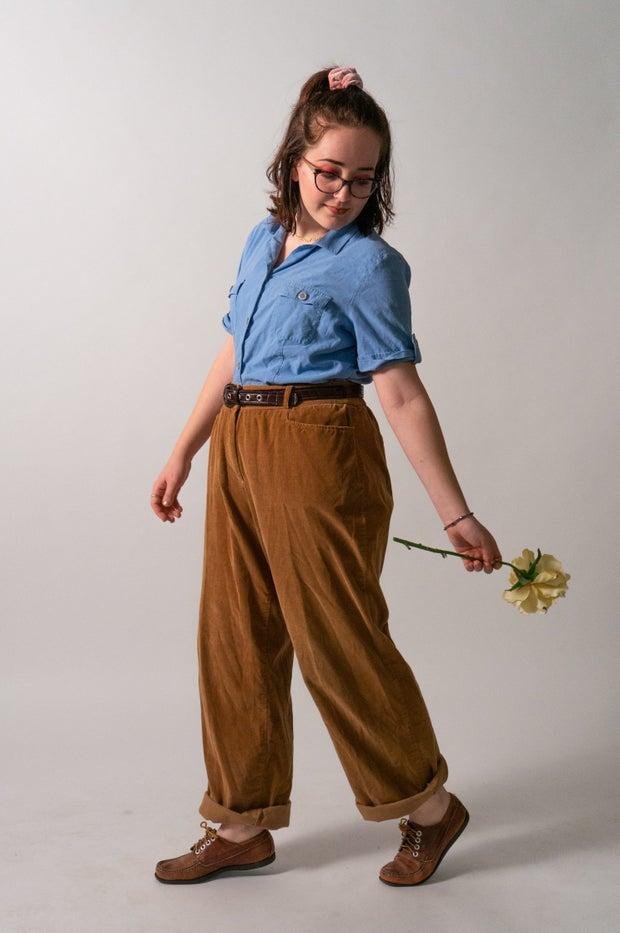 Woman model holding flower