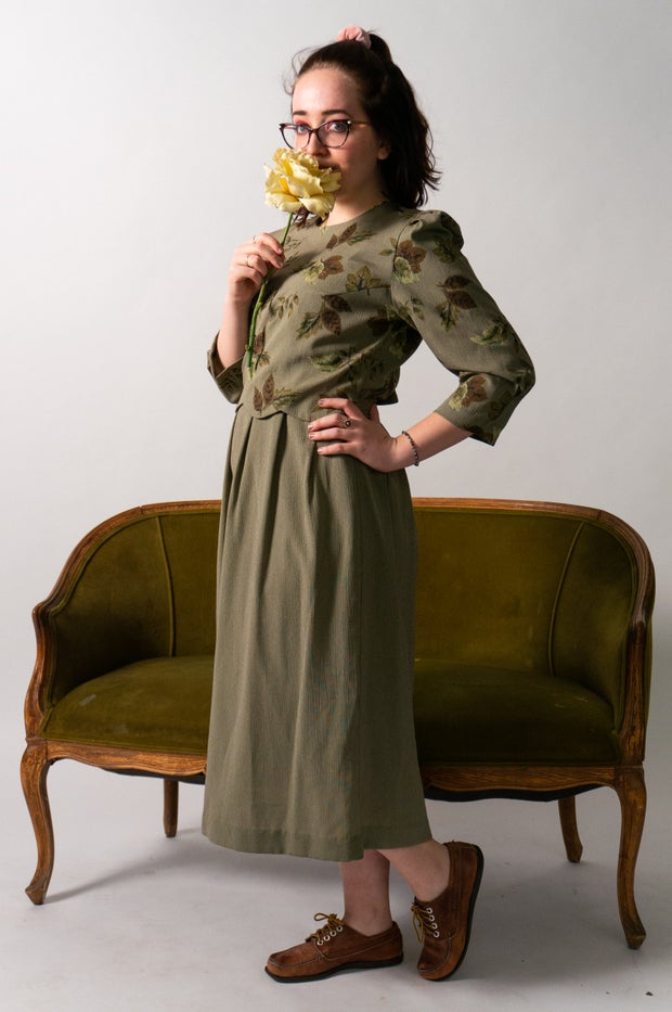 Woman model in dress