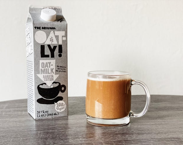 oat milk with coffee