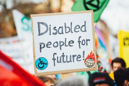 disabled people for the future sign