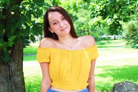 Image of Emmanuel College student leader. Arielle Beninco