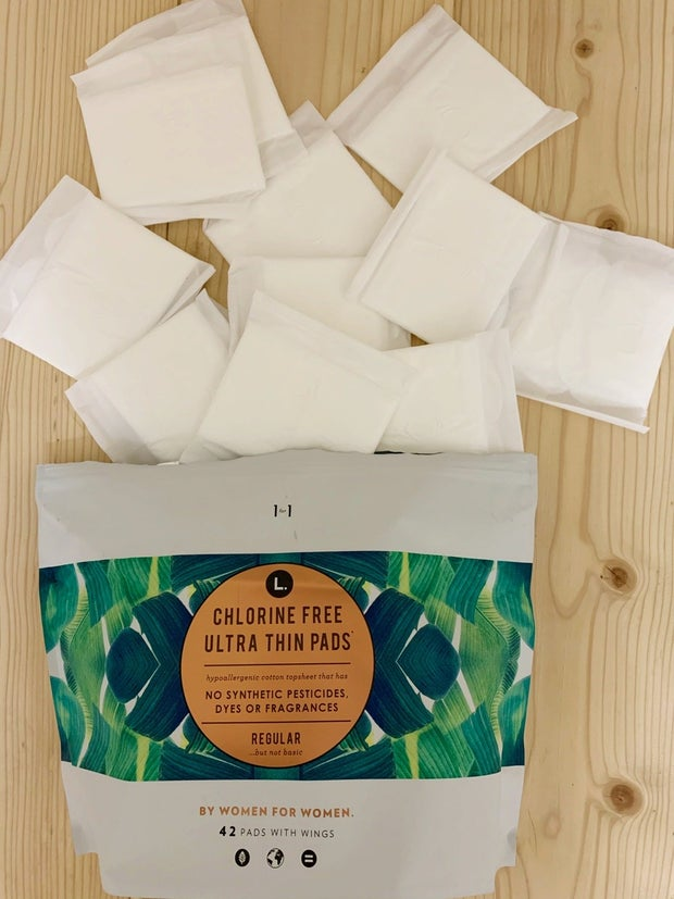 natural pads and their package
