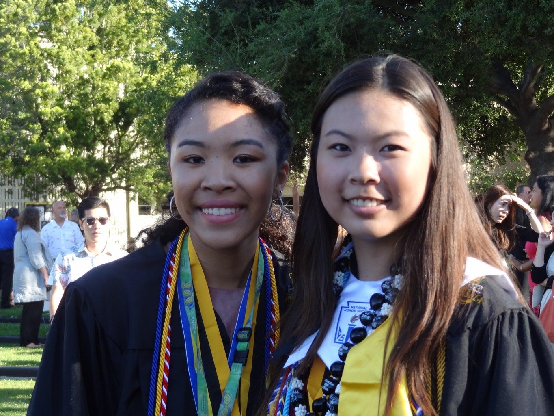 friends at high school graduation