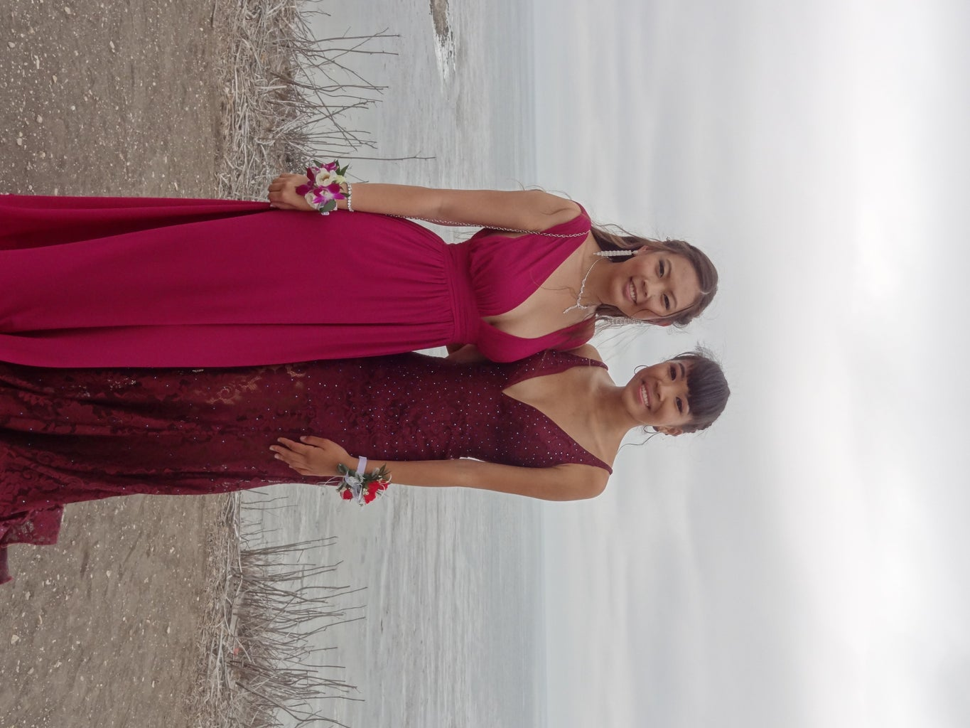 friends at high school prom