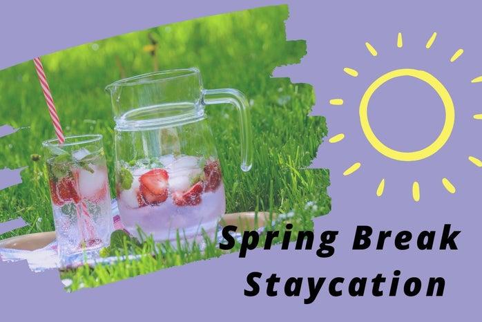 picnic, sunshine, spring break staycation