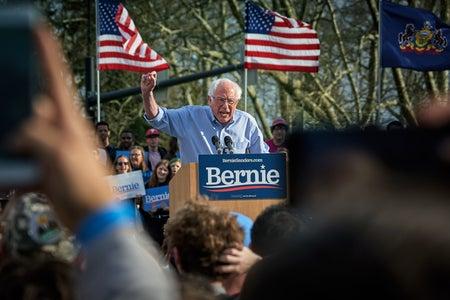 Bernie Sanders at Rally