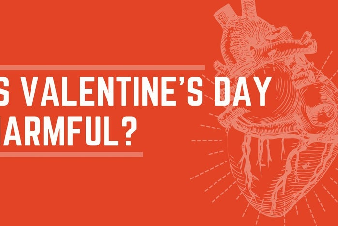 Article Graphic created on Canva for Harmfulness of Valentines Day