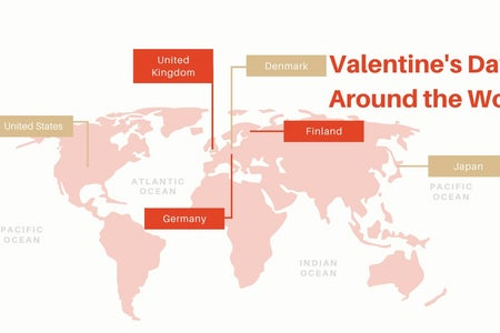 Article Graphic made on Canva for Valentine's Day around the World