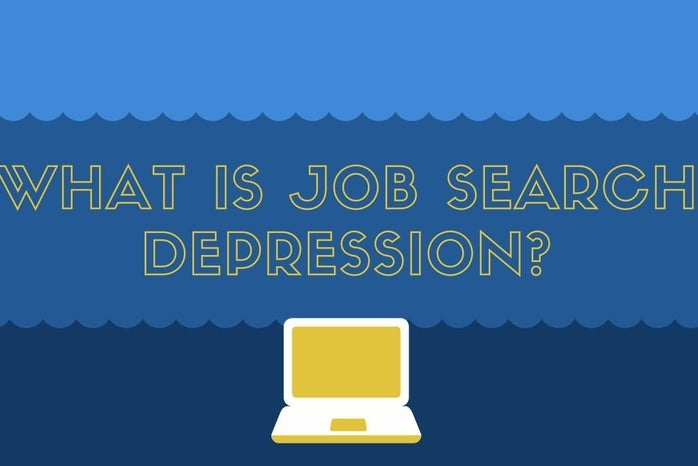 Article Graphic made on Canva for Job Search Depression