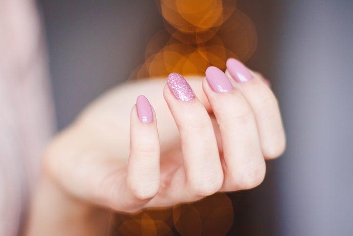 pink manicure