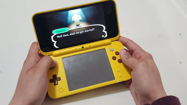 Animal Crossing being played on 3ds