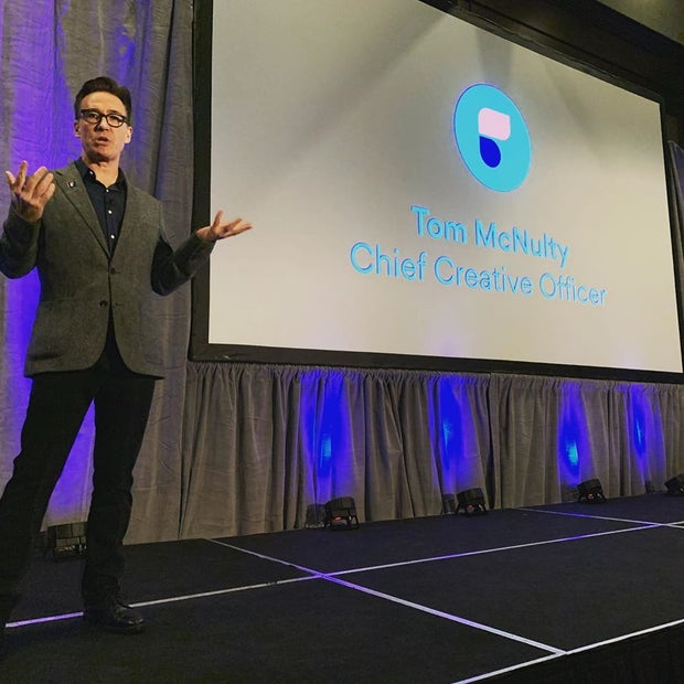 Tom McNulty, Chief Creative Officer for Ficto at the Brandstorytelling Conference