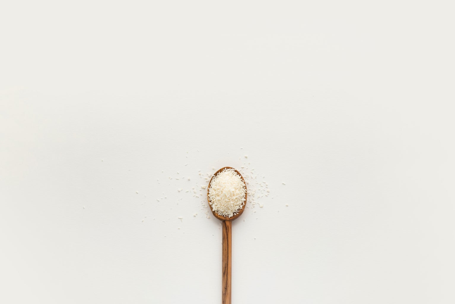 spoon of shredded coconut