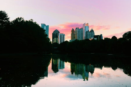 high rise atlanta buildings over water