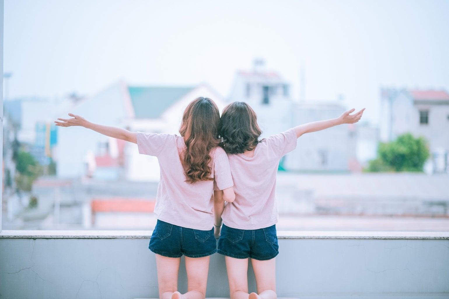 Two Women on Balcony