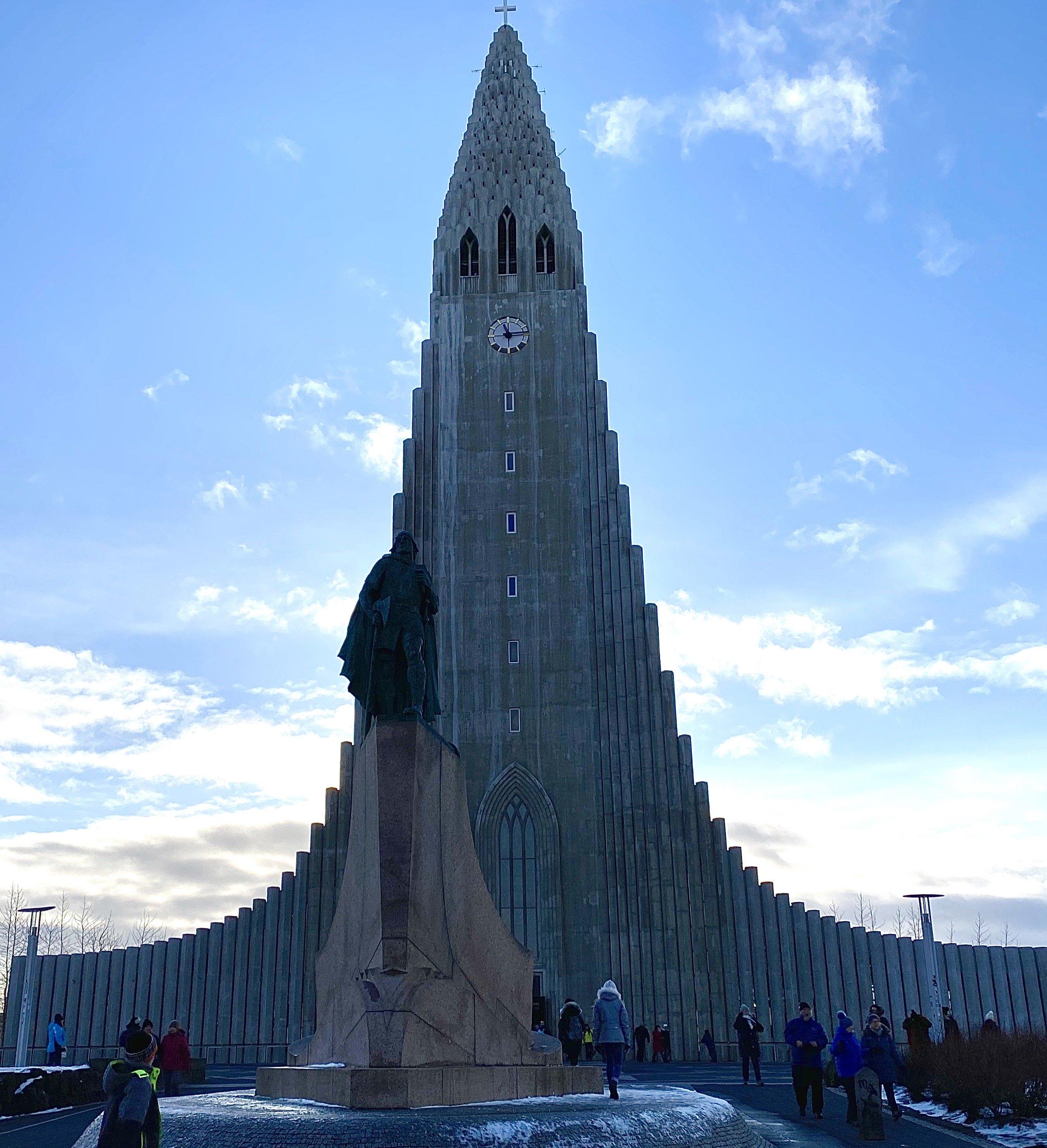 Hallgrimskirkja cathedral in Reykjavik