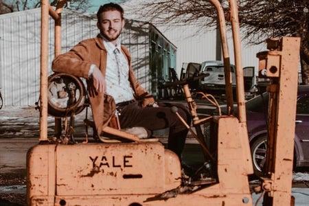 Noah Floersch on tractor