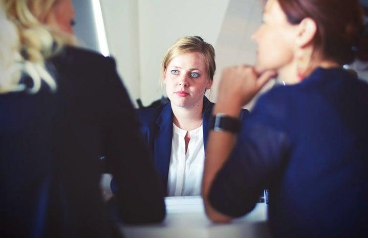 Women in an interview
