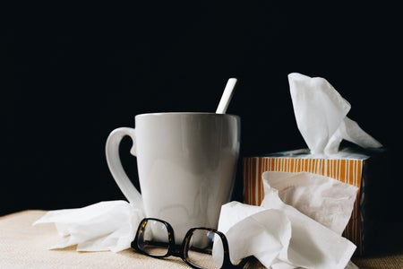 Tissues and glasses