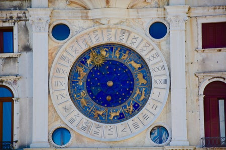 Zodiac signs on building