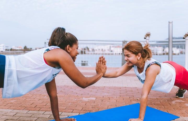 women doing exercises