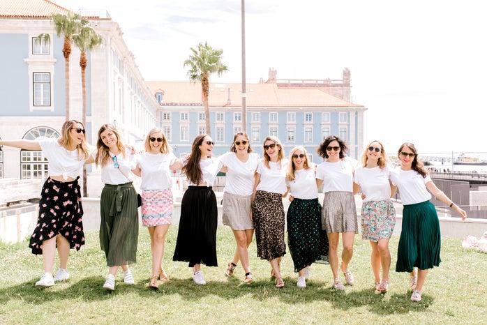 girls in skirts