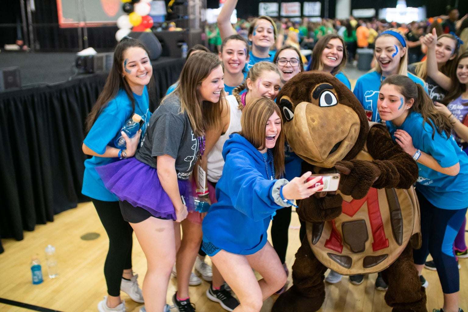 Original photos via on campus organization, Terp Thon. Images are to be used with an upcoming article featuring the 12-hour philanthropy event coming up.