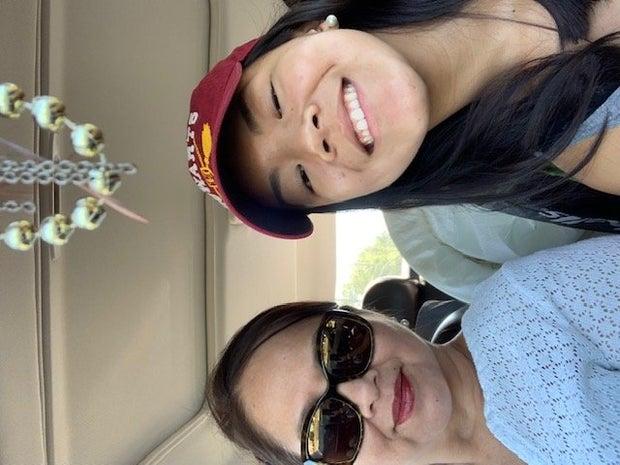 My mom and I on the way to FSU