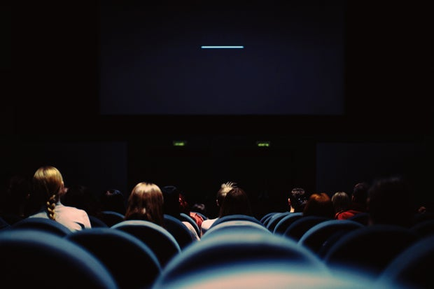 People in Movie Theatre