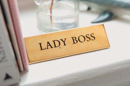 Lady boss plaque