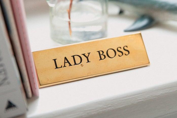 Lady boss plaque
